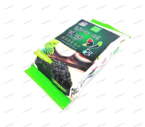 Корейская сушеная обжаренная морская капуста Саккурам с васаби, 4,5 гр.