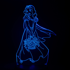 3D светильник с пультом Белоснежка — 3D light remote control Snow White