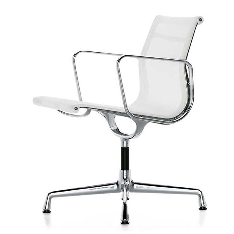 Кресло Eames Style Netweave Conference Chair EA 108 белая сетка - вид 2