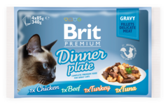 Паучи для кошек, Brit Premium Cat Gravy Dinner Plate