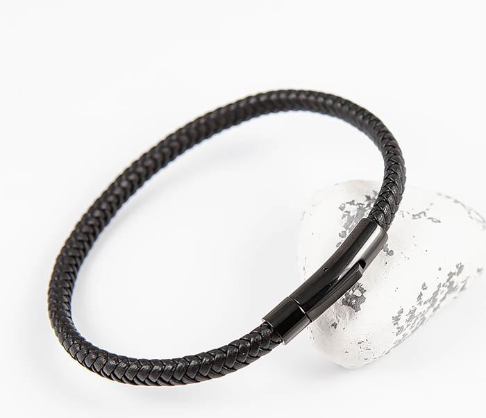 BM529-1 Тонкий мужской браслет из плетеного шнура