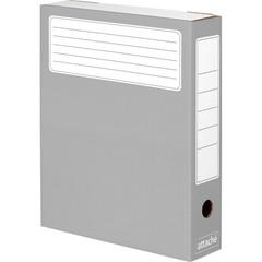 Короб архивный Attache микрогофрокартон серый 252x75x322 мм (5 штук в упаковке)