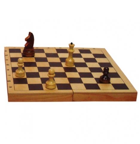 G217 Доска для шахмат и шашек обиходная лакированная, р-р 300*150*34мм