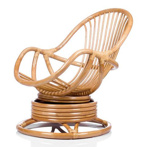 Кресло-качалка KARA (004.002) с подушкой коньячный