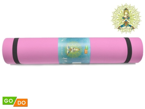 Коврик гимнастический. КВ6106 (Розовый) (Коврик гимнастический. КВ6106 (Розовый))
