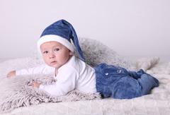 Новогодний комплект Маленький Санта (синий)