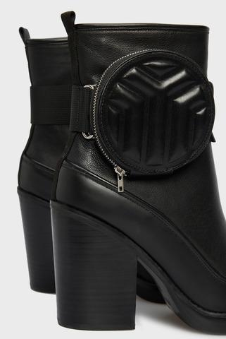 Женские черные кожаные ботильоны Chara PRPY