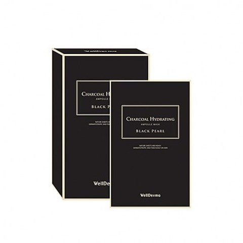 WELLDERMA Charcoal Hydrating Ampoule Mask-Black Pearl (10ea)