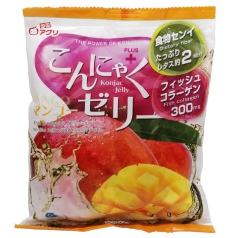 Желе конняку со вкусом манго Yukiguni Aguri 108 г