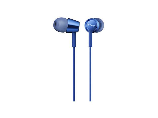 MDR-EX155AP LI наушники Sony с микрофоном, цвет синий
