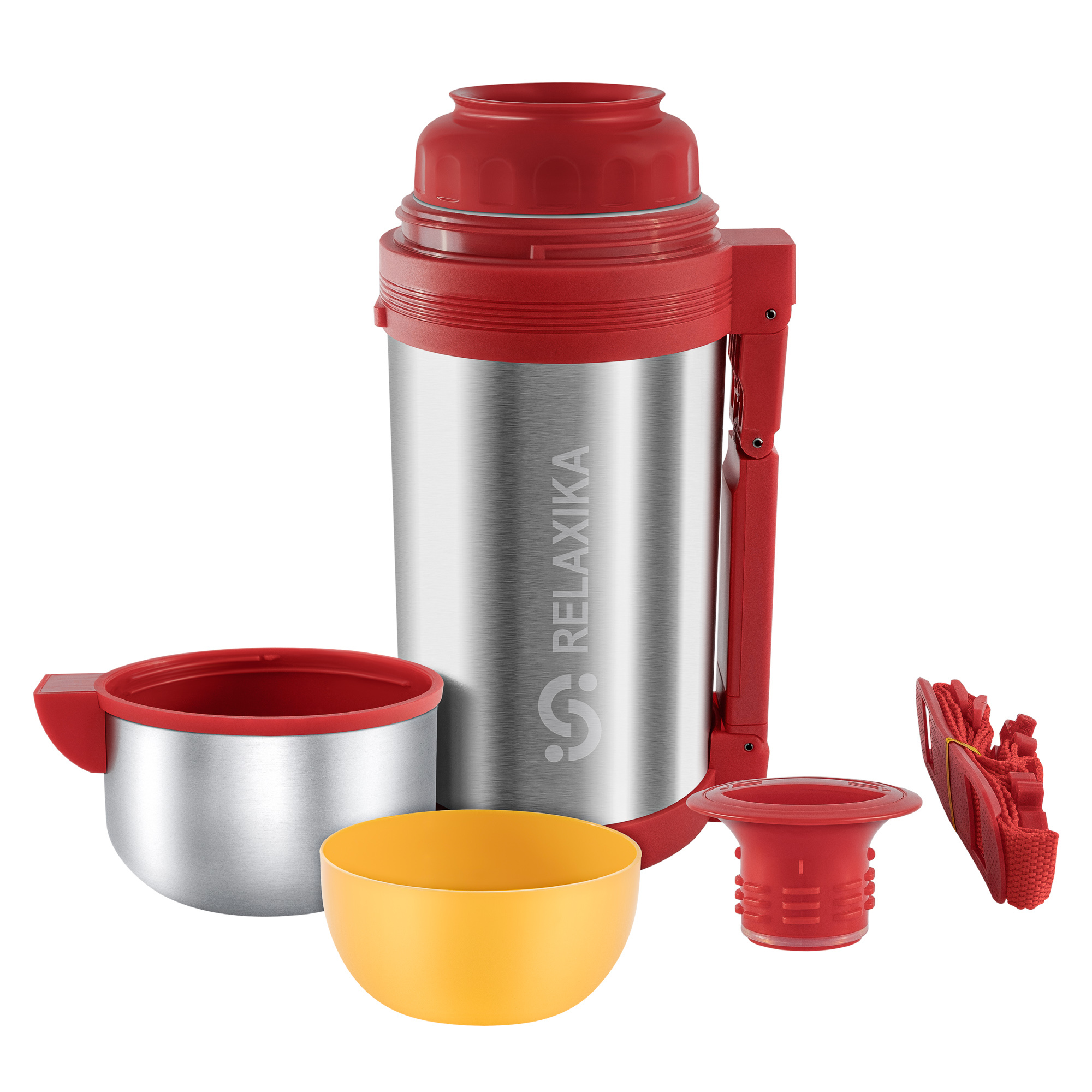 Термос универсальный (для еды и напитков) Relaxika 201 (1,2 литра), стальной