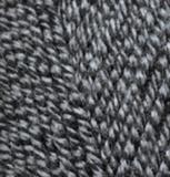 Пряжа Alize Lanagold 600 черно-серый дуэт