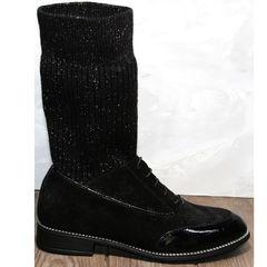 Модные полусапожки на низком ходу Kluchini 5161 k255 Black
