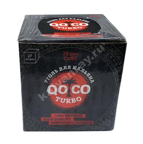 Кокосовый уголь Qoco Turbo Cube (25 мм) - 27 кубиков