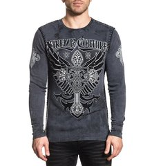 Пуловер Xtreme Couture ARMS THERMAL - CHARCOAL LAVA WASH