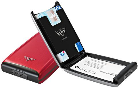 Визитница c защитой Tru Virtu  (16.10.1.0001.05) Razor красный  104x68x20 мм
