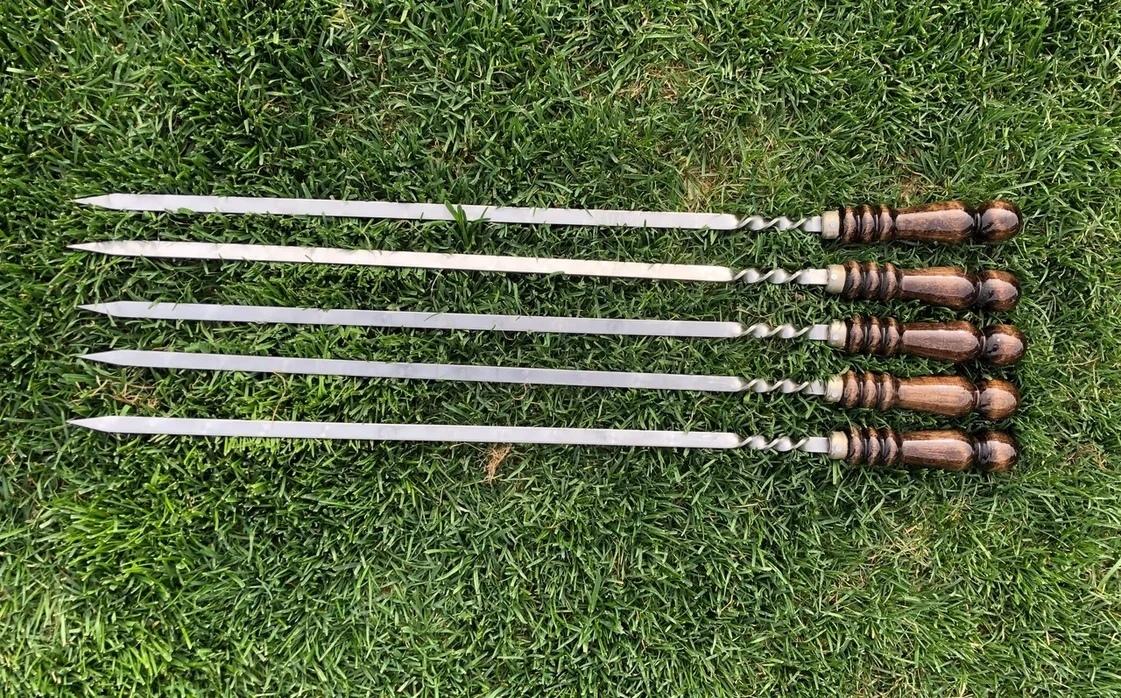 Шампуры для люля-кебаб Шампур для люля-кебаб с деревянной ручкой 8APQDM1wEvY.jpg