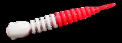 Силиконовые приманки Trout Bait Chub 65 (65 мм, цвет: Бело-красный, запах: чеснок, банка 12 шт.)
