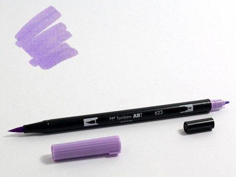 Маркер-кисть Tombow ABT Dual Brush Pen-623, фиолетовый шалфей