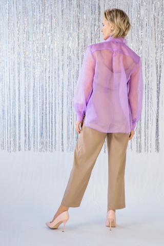Блуза прозрачная с бантом