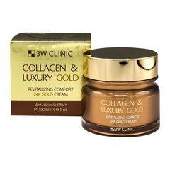 Омолаживающий крем для лица 3W Clinic с коллагеном и золотом  100 мл