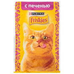 Корм для кошек Friskies печень в подливе 85г