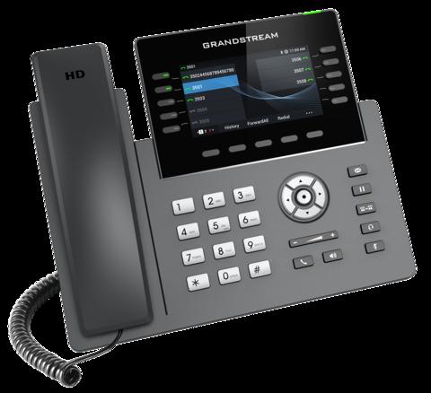 Grandstream GRP2615 - IP телефон. 5 SIP аккаунтов, 10 линий, цветной LCD, PoE, (1GbE)Gigabit Ethernet, до 4-х GBX20, USB, Wi-Fi, Bluetooth