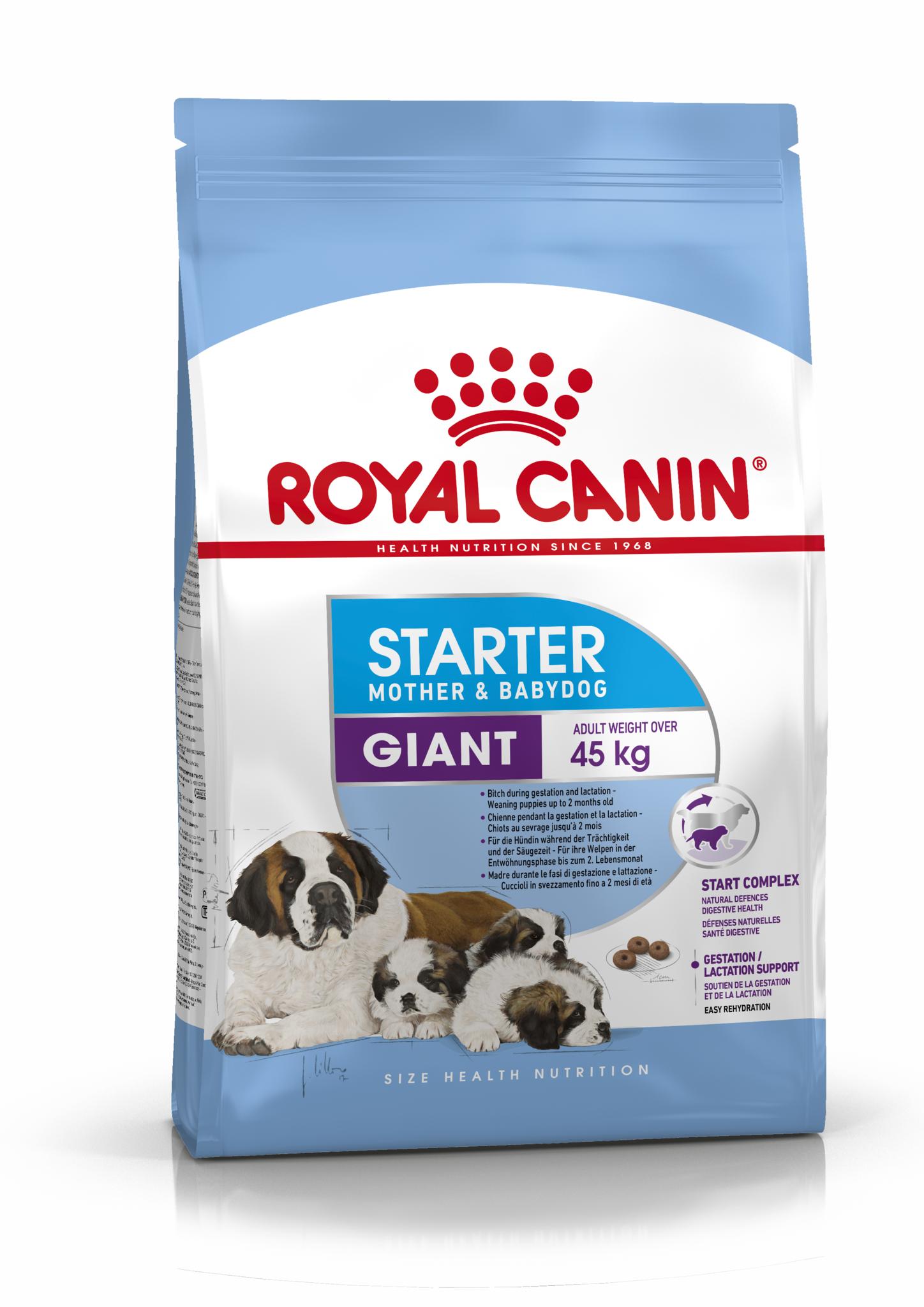 Сухой корм Корм для щенков очень крупных размеров до 2-х месяцев и беременных сук, Royal Canin Giant Starter Mother & Babydog 3182550778824_1.png