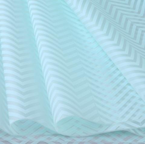 Пленка матовая Зигзаг (размер: 70см х 10м), цвет: мятный