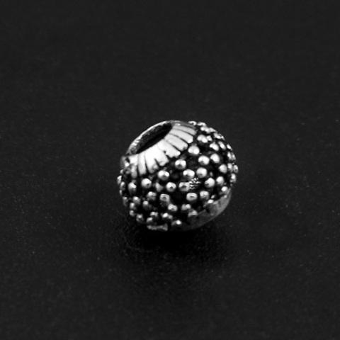 Бусина Элия 7,5х6,3 мм серебро 925