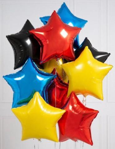 Сет воздушных шаров с гелием Яркие звезды