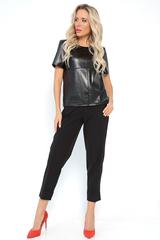 <p>Классические брюки прямого силуэта укороченной длины, талия на резинке. Удобная высокая посадка.&nbsp;</p> <p>(Длины: 46-94см; 48-95см; 50-95см; 52-96см)</p>