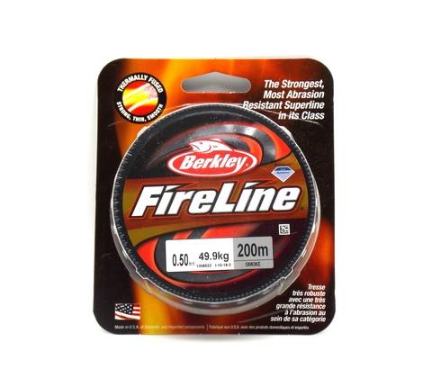 Плетеная леска Berkley Fireline Темно-серая 200 м. 0,50 мм. 49,9 кг. Smoke (1308623)