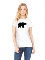 Футболка с принтом Медведь, Медвежонок (Bear) белая w004