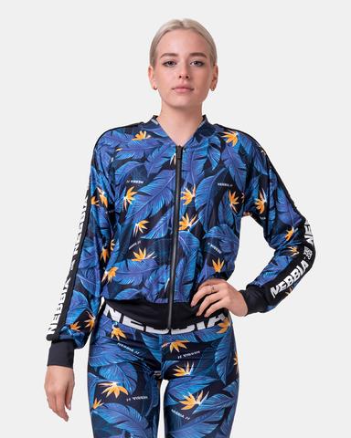 Женская кофта Nebbia Ocean Power sporty jacket 562 Blue