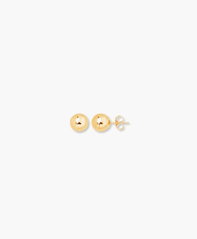 Cерьги-гвоздики Ball gold 6 mm