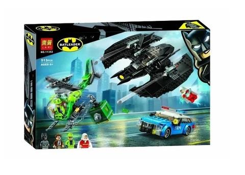 Конструктор Batleader 11352 Бэткрыло Бэтмена и ограбление Загадочника
