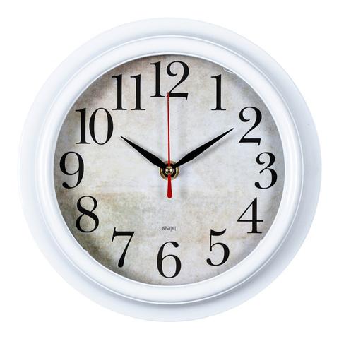 Часы настенные аналоговые Бюрократ WALLC-R80P D21см белый