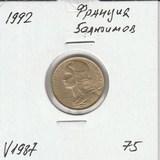 V1987 1992 Франция 5 сантимов