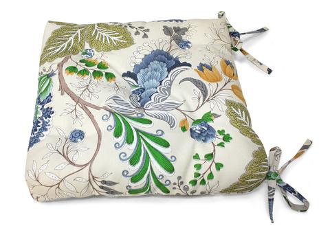 Подушка на стул Кассандра голубой