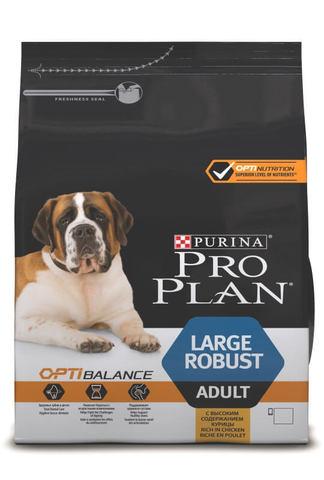 Сухой корм Purina Pro Plan для взрослых собак крупных пород с мощным телосложением, курица с рисом