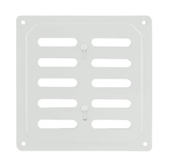 Решетка с заслонкой (заглушкой) 160х160 мм Белая