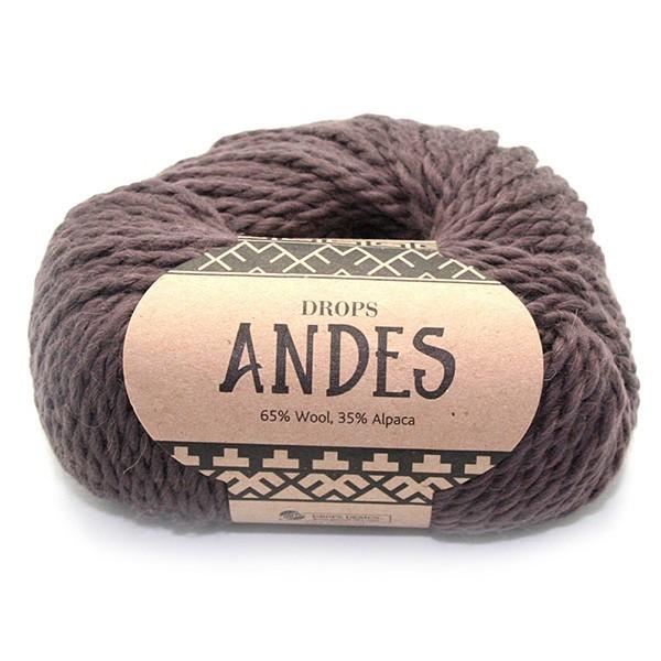Пряжа Drops Andes 5610 коричневый
