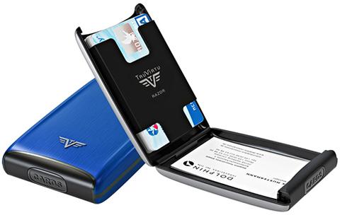 Визитница c защитой Tru Virtu  (16.10.1.0001.12) Razor светло-синий 104x68x20 мм