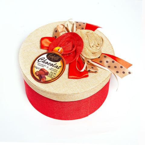 Набор шоколадных конфет Feletti Chocolat Элоди (красная), 250 г