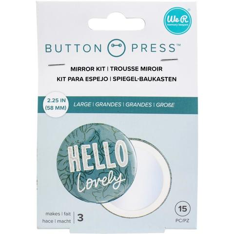 Набор для изготовления зеркала Button Press Adhesive Mirrors by We R Memory Keepers