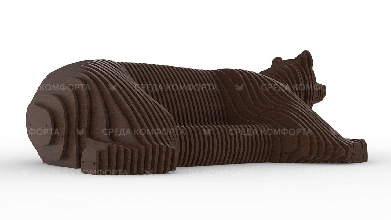 Параметрическая скамейка медведь 2600х1700х900мм ART0017
