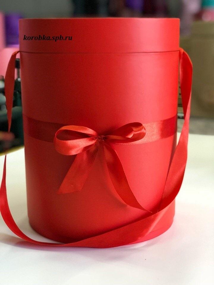 Шляпная коробка 22,5 см Цвет:  красный . Розница 450 рублей .