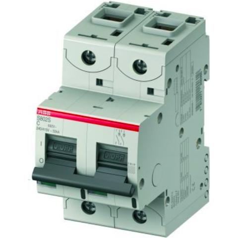 Автоматический выключатель 2-полюсный 125 А, тип C, 15 кА S802C C125. ABB. 2CCS882001R0844