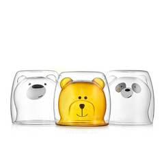 """Стаканы  TeaStar с двойными стенками """"Мишки"""", набор из 3 штук, 250 мл"""